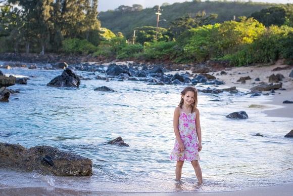 Family Portrait, Oahu, North shore, Hawaii, Beach, kids,