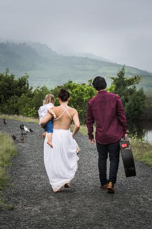 Rain, guitar, Oahu, Hawaii, Photographer, Julie Ryan Shiroma, Family