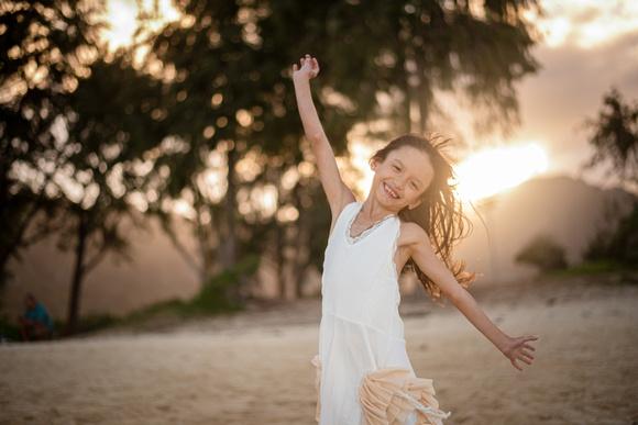Child Portrait Session, Waimanalo Beach Park, Oahu Photographer