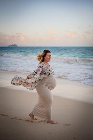 Maternity Session, Waimanalo Beach Park, Oahu Photographer