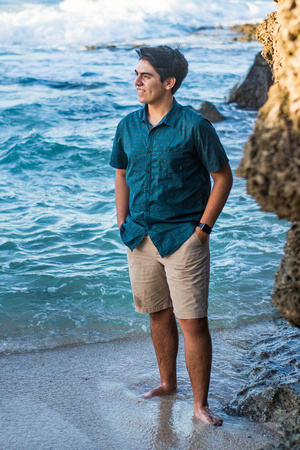Senior photos, Kaena point, Oahu Family photographer, Oahu Senior photographer, beach session Hawaii, Golden hour, Senior portraits