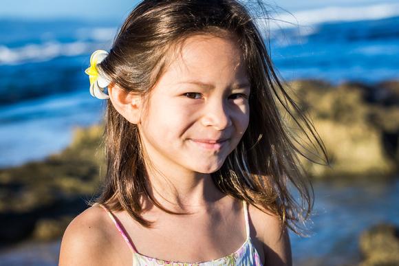 Family Portrait, Oahu, North shore, Hawaii, Beach