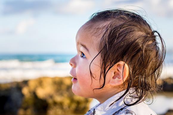 Family, Portrait, Oahu, North shore, Hawaii, Beach