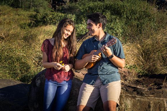 Senior photos, Kaena point, Oahu Family photographer, Oahu Senior photographer, beach session Hawaii, Golden hour, ukulele