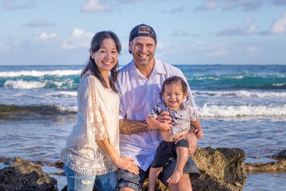 Family Portrait, Oahu, North shore, Hawaii, Beach, Tide Pools, Sand