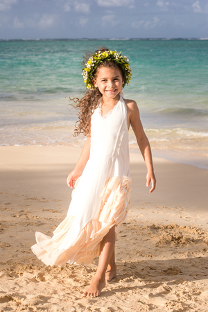 Picket Fence Florist, leis, curls, Kailua Beach
